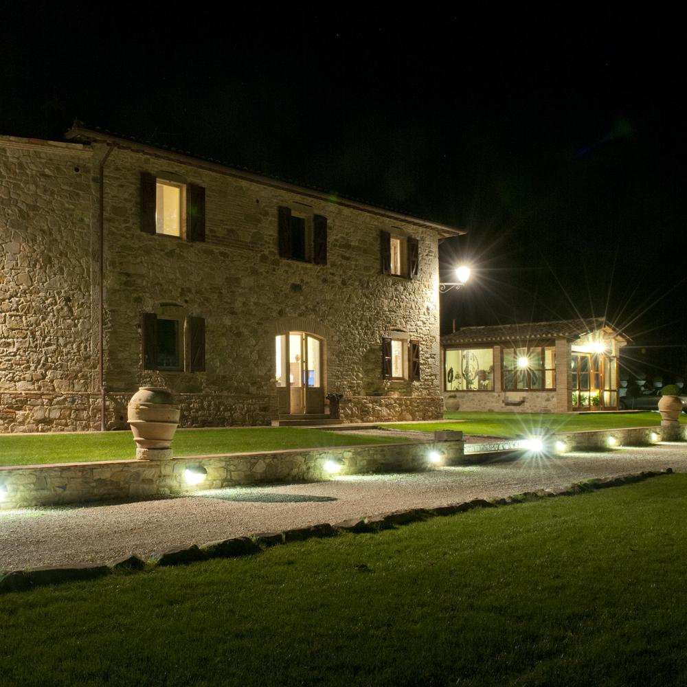 Villa - illuminazione notturna