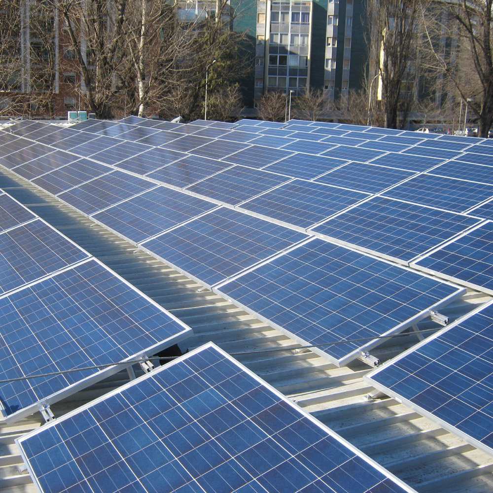 Impianto fotovoltaico su pensiline